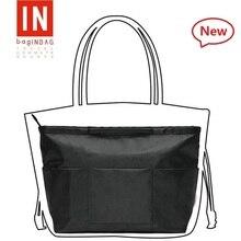 ФОТО Purse Insert Bag Black Shaper Bag Organizer Purse Organizer Base Handbag With a hook for keys Well Designed Compartments