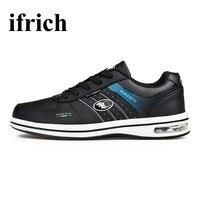 Ifrich Sport Running Shoes Men Big Size Tracking Shoes Men Spring Summer Men Gym Sneakers Black
