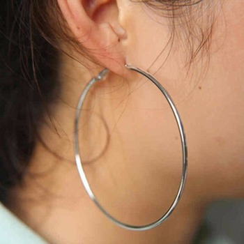 BLIJERY Trendy Large Hoop Earrings Big Smooth Circle Earrings Basketball Brincos Celebrity 1
