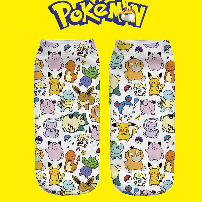 3d bande dessine pokemon chaussettes femmes filles garons de nol