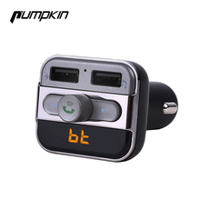 Pumpkin LED Bluetooth Handsfree Car Kit FM Transmitter Modulator Wireless Music and Dual Charging Port Car Charger