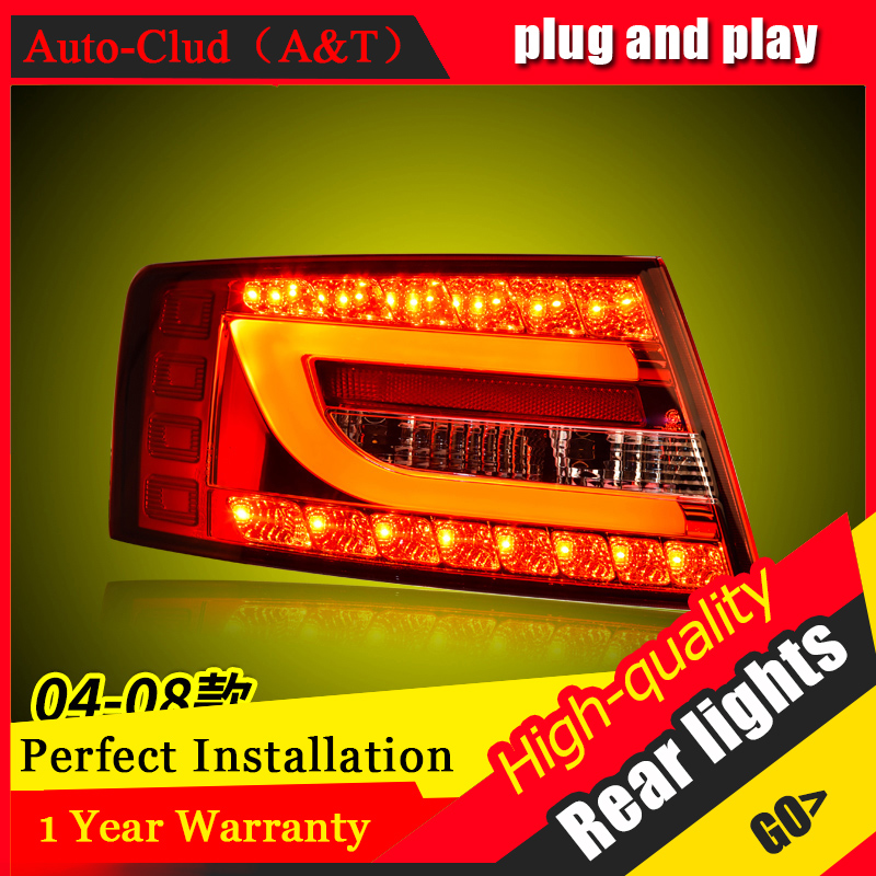 Car Styling LED Tail Lamp for A6 Tail Lights 2004-2008 for A6 Rear Light DRL+Turn Signal+Brake+Reverse LED light 2x 1156 bau15s amber white turn signal light 21smd 2835 led parking lamp car styling brake lights reverse lamp drl car tail bulb