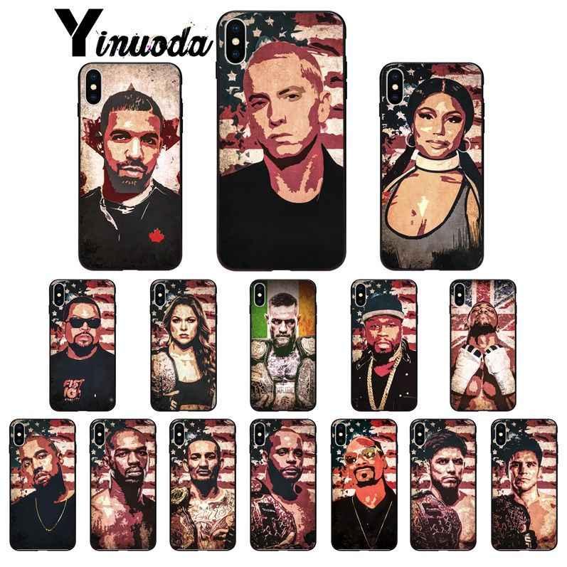Yinuoda Rap star Rapper Eminem Kanye West UFC สำหรับ iphone ของ Apple iphone 8 7 6 6S Plus X XS MAX 5 5S SE XR โทรศัพท์มือถือ