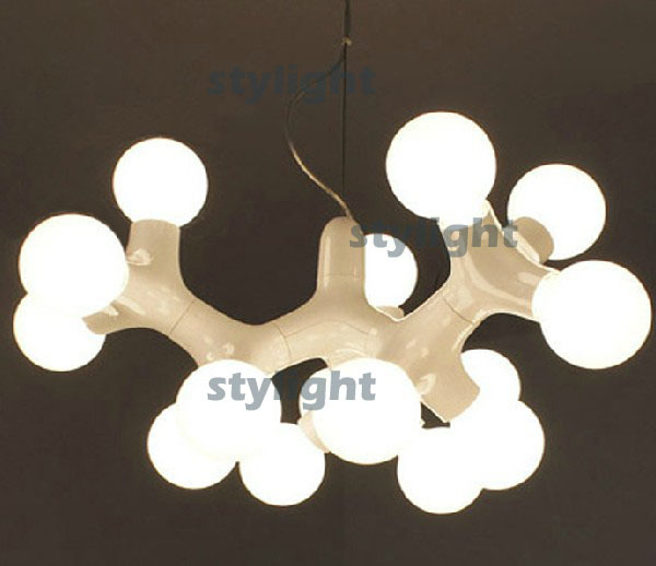 3 heads dna pendant lamp modern light molecular chain dna triple chandelier dinning room living room - Modern Forms Lighting