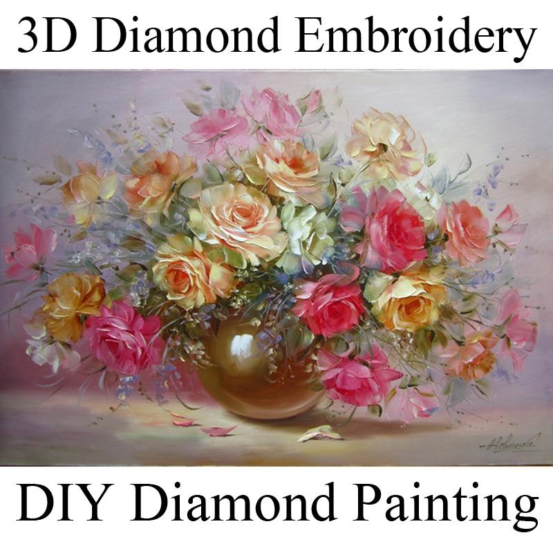 3D diamant broderie floare diamant cruce cusatura piatra diamant - Arte, meșteșuguri și cusut