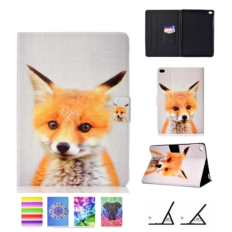 For iPad Air 2 Air 1 Case Color Painted PU Leather Tablet Stand Cover For iPad 2018 2017 9.7 inch 5th 6th Generation Tablet Case