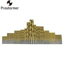 PROSTORMER 1.5-10mm 99Pcs/Set High Steel Titanium Coated Twist Drill HSS Drills Bits Woodworking Wood Tool Cordless Screwdriver