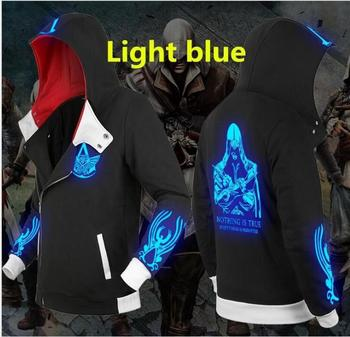 assassins creed printed men Hoodies with hat fleece thick casual loose hoodie men hooded sweatshirt