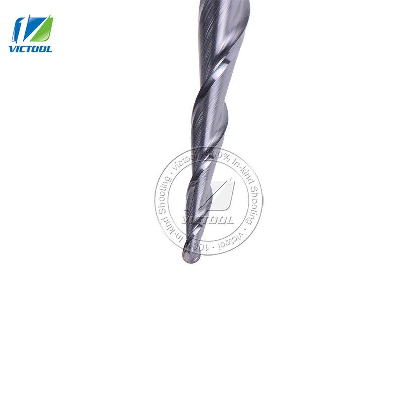 1db R1.0 * D8 * 47 * 100L * 2F 8 mm-es volfrám-karbid Gömb-orr-kúp - Szerszámgépek és tartozékok - Fénykép 5