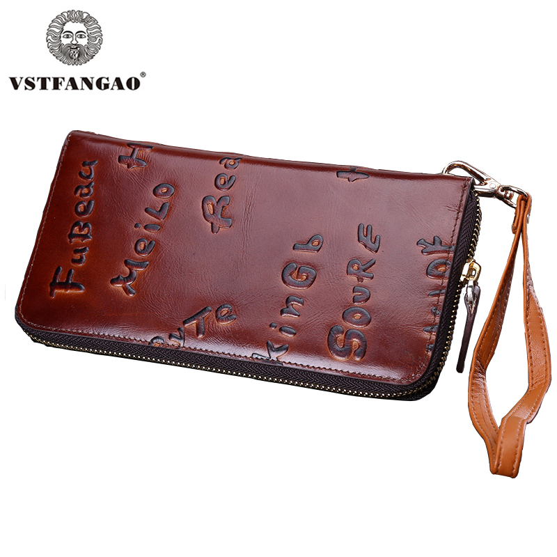 2015 New men wallets Vintage wallet men purse Clutch bag Brand Genuine leather wallet long design men bag gift for men Brown 2017 new fashion men wallets casual wallet men purse clutch bag brand leather long wallet design hand bags for men purse