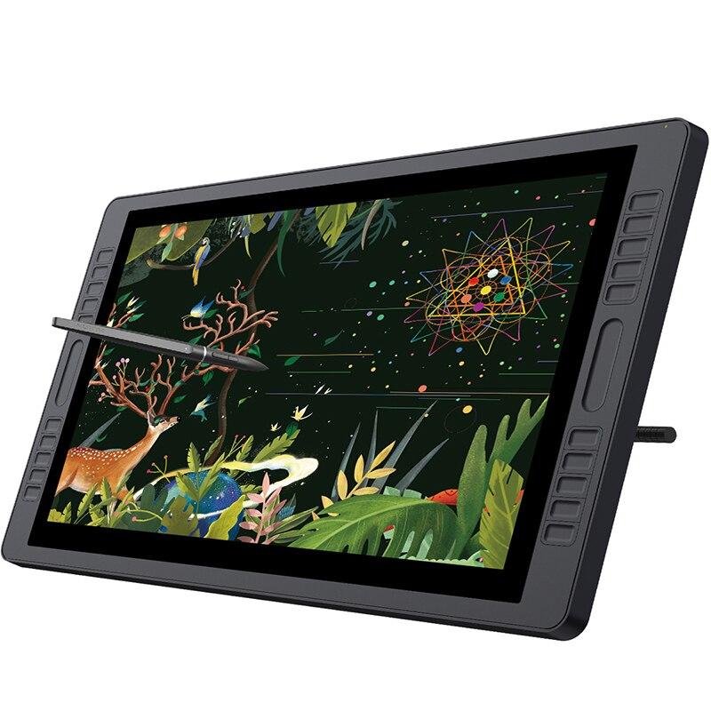 HUION kamvas gt-221 Pro 8192 уровней ручка Дисплей рисунок Планшеты Мониторы IPS ЖК-дисплей HD Экран 10 Пресс ключи-21.5 дюймов