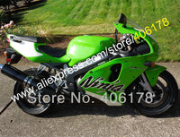 Hot Sales,Free custom Green White Black for KAWASAKI ZX7R 96 97 98 99 00 01 02 03 ZX 7R ZX636 ZX-7R 96-03 ABS fairing kit