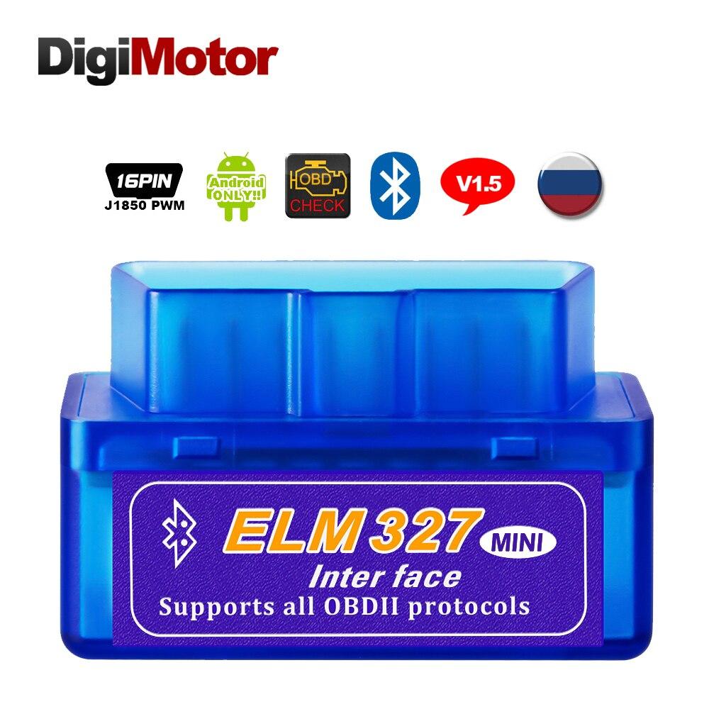 Real ELM 327 V 1.5 ELM327 Bluetooth OBD2 v1.5 Android Car Scanner Automotive OBD 2 Auto Diagnostic Tool OBDII Scaner Automotriz