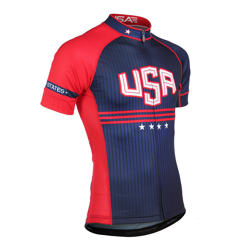 c7d68ee5a 2018 Summer USA Cycling Jersey Men Mountain Bike Shirt Maillot Ropa Ciclismo  Racing Bicycle Clothes Quick-Dry Cycling Clothing