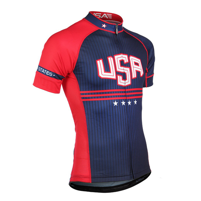 2018 Summer USA Cycling Jersey Men Mountain Bike Shirt Maillot Ropa Ciclismo  Racing Bicycle Clothes Quick-Dry Cycling Clothing 9f2e3303e