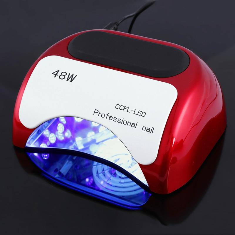 ФОТО Professional 48W CCFL LED UV Lamp Nail Dryer For Nail Gel Polish Curing Nail Lamp Dryer Art Manicure Automatic sensor US EU Plug