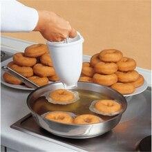 De plástico de Donut Maker molde de la máquina de herramienta de bricolaje cocina pastelería pasteles Ware accesorios de cocina blanco práctica Moule Donut