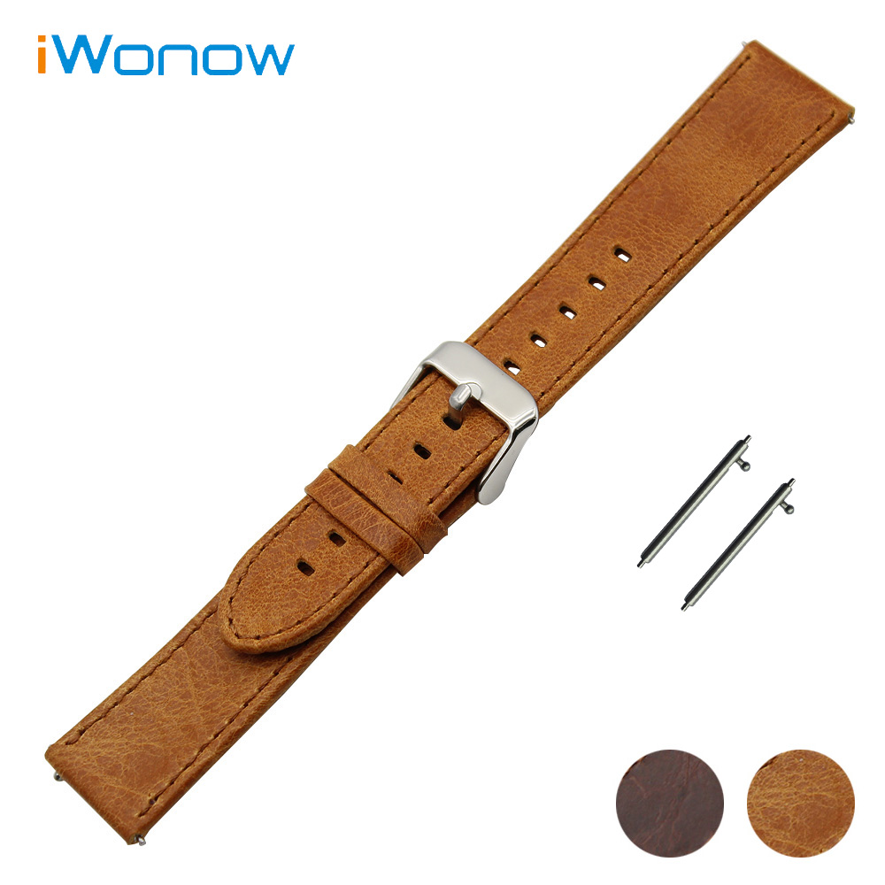 Genuine Leather Watch Band 20mm 22mm 23mm Universal Watchband Quick Release Strap Stainless Steel Pin Buckle Wrist Belt Bracelet genuine leather watch band 22mm for pebble time steel stainless pin buckle strap quick release wrist belt bracelet black brown