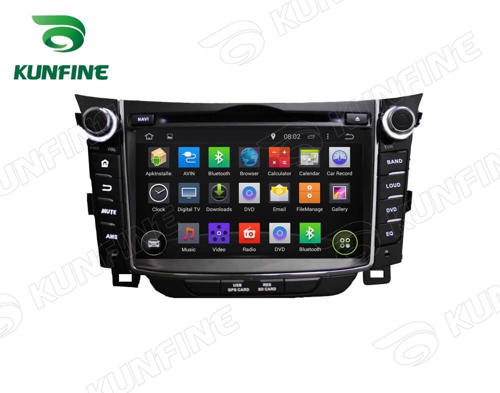4 ядра 1024*600 андроид 5.1 автомобильный DVD с GPS плеер навигации для Хендай i30 2011-13 радио 3gwifi руль пульт управления расстояние