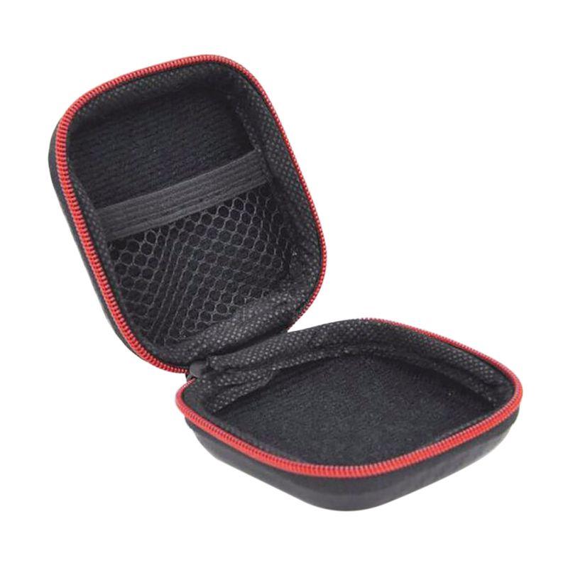 High End Zipper Earphone Case Bag Portable Storage Case Headphone SD Card Bag Box Earphone Accessories