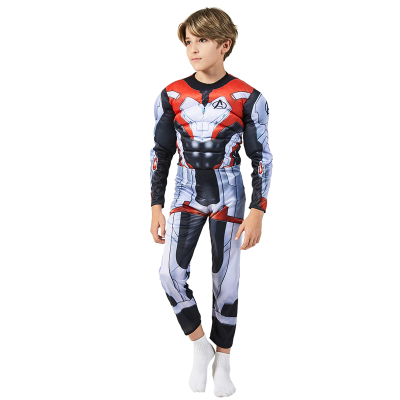 Kids Marvel 4 Endgame Advanced Tech Quantum Realm Muscle Dress Up Halloween Cosplay Carnival Party Costume For Child| | - AliExpress