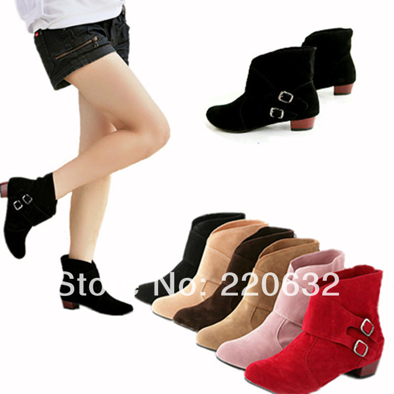 Aliexpress.com : Buy New Fashion Cute Women's two Buckle Ankle ...
