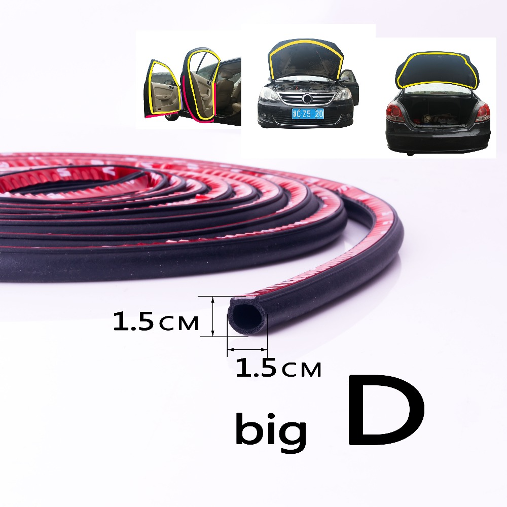 Big D 3M Car Door Rubber Seal Noise Sound Insulation Rubber Sealant Adhesive Waterproof Auto Edge Dust Wind Weather CC-070 abs rubber car door bumper strips w 3m adhesive tapes black