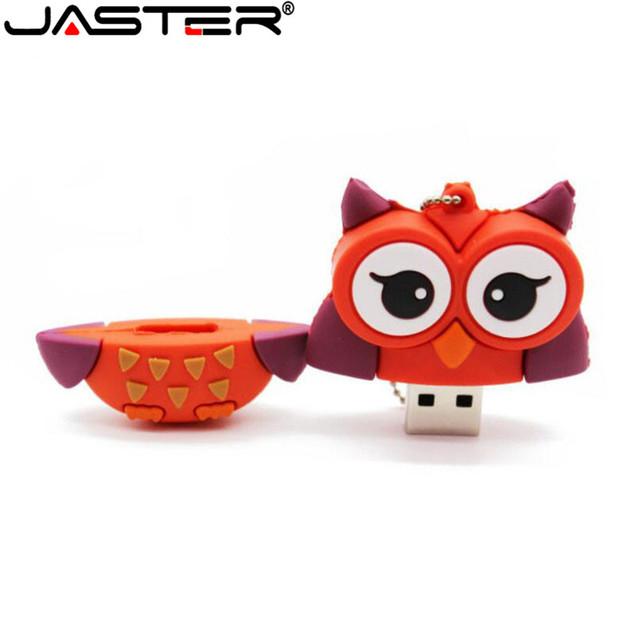 JASTER cute penguin owl fox pen drive cartoon usb flash drive pendrive 4GB/8GB/16GB/32GB U disk animal memory stick gift
