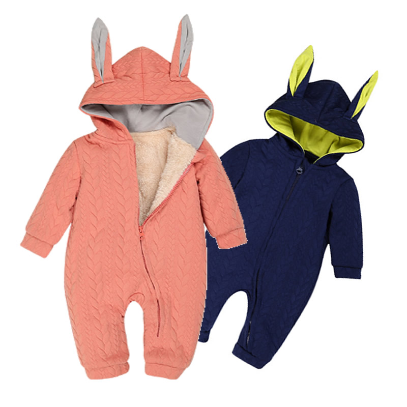 0-24 Months Winter Baby Rompers Thick Climbing Clothes Newborn Baby Boys Girls Warm Jumpsuit Fashion Hooded Outwear for infantil 2017 baby boys girls long sleeve winter rompers thicken warm baby winter clothes roupa infantil boys girls outfits cc456 cgr1