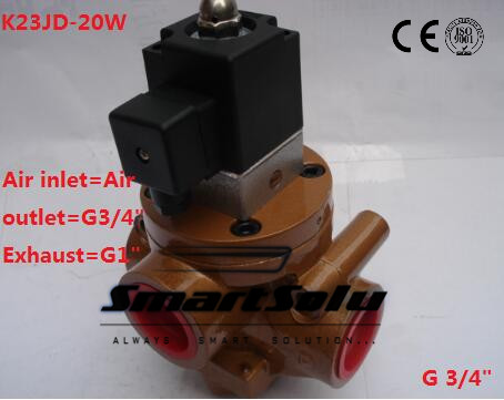 G3/4 Electric Control Reversing Valve Pneumatic Stop Valve Cut Off Solenoid Valve 2/3Way N/C Type Brick Machine Parts smc type pneumatic solenoid valve sy3140 4lzd