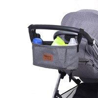 Stroller Organiser Stroller Bag Hanging Basket Baby Storage Bag Stroller Accessories Diaper Bag Backpack Linen High