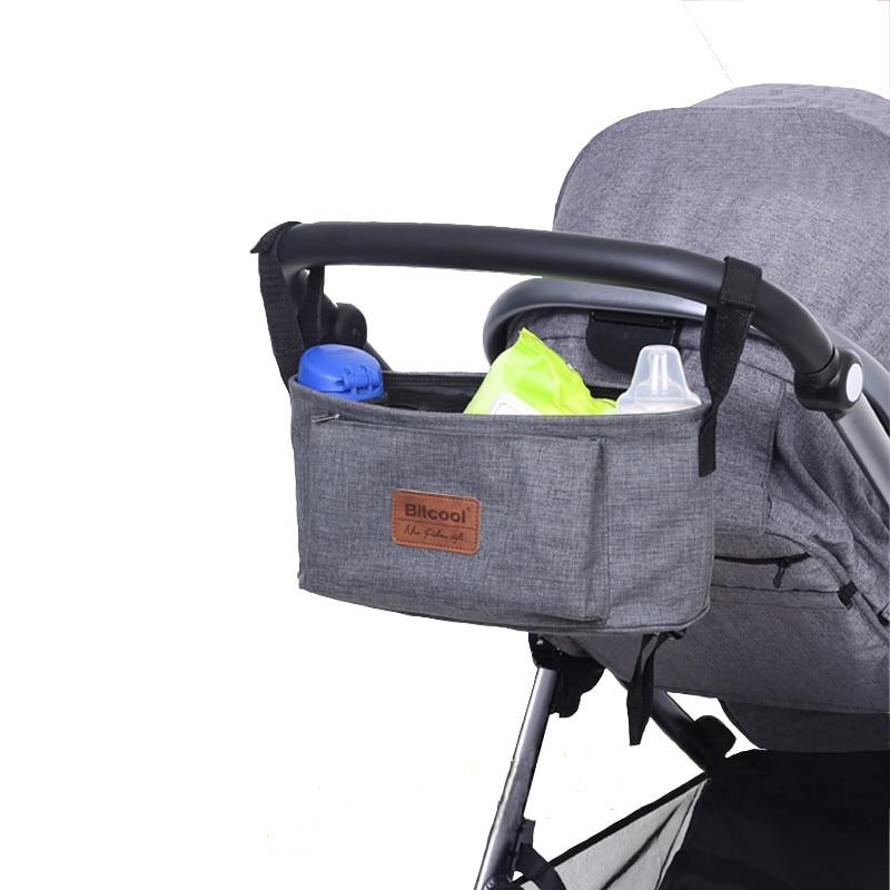 stroller organiser stroller bag hanging basket baby storage bag stroller accessories diaper bag backpack linen high quality