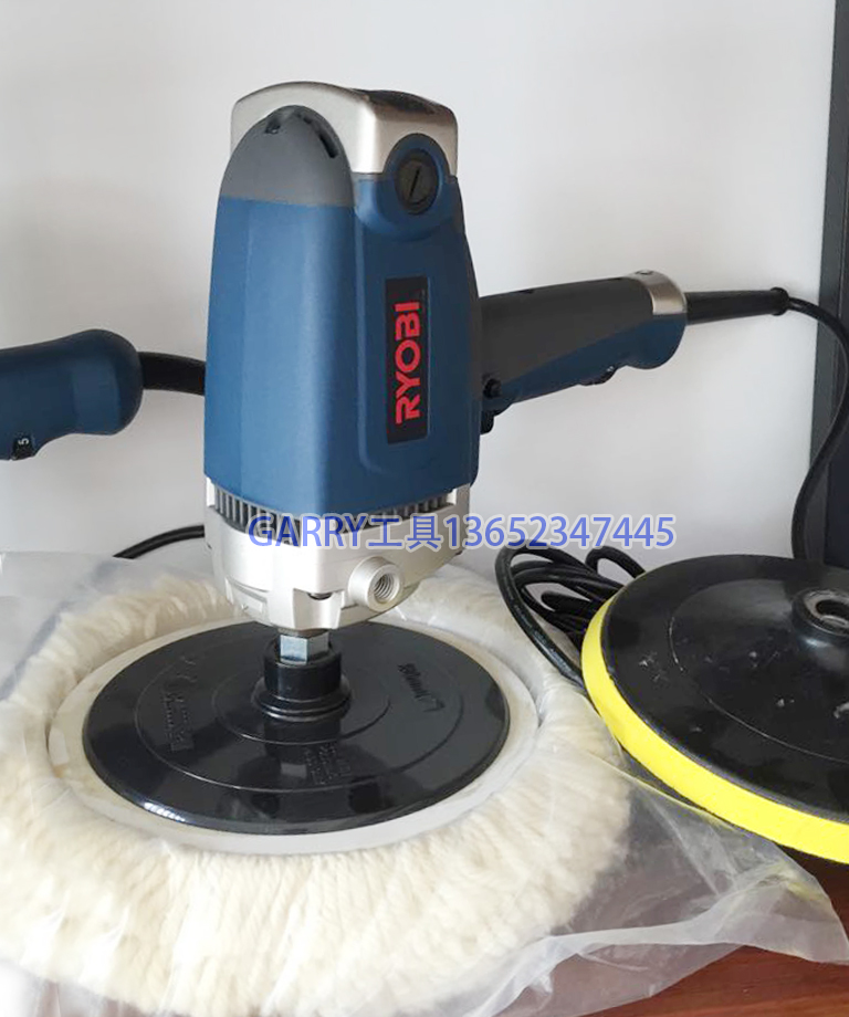RYOBI power tools car sander polisher round pad PE-2200 7 inch pad grinder 150 180 mm polishing adjustable speed spta 4 100mm genuine wool buffing ball polishing pad ball hex shank turn power drill or impact driver high speed polisher