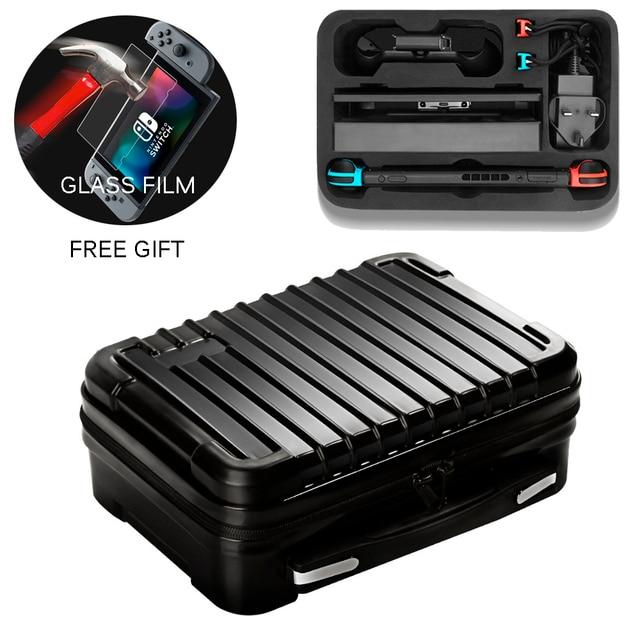 Bolsa para Nintend consola Switch NS caso al aire libre de viaje de almacenamiento caja de la cáscara del ABS maleta para Nitendo accesorios de interruptor