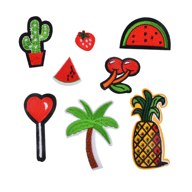 Hoomall 8PCs Mixed Iron On Patches For Clothes Cartoon Motif Badges Embroidered DIY Clothes Ornaments Decor Sewing Accessories