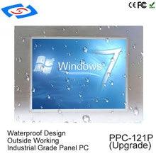 Intel J1900 Quad Core CPU sans ventilateur 12.1 pouces tablette industrielle avec 1 * rj45 port intel processeur écran tactile panneau pc