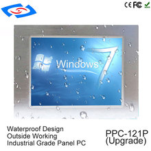 Intel J1900 Quad Core CPU sin ventilador 12,1 pulgadas industrial tablet pc con 1 * rj45 Puerto intel procesador pantalla táctil panel pc