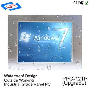 Image 1 - Intel J1900 Quad Core CPU sin ventilador 12,1 pulgadas industrial tablet pc con 1 * rj45 Puerto intel procesador pantalla táctil panel pc