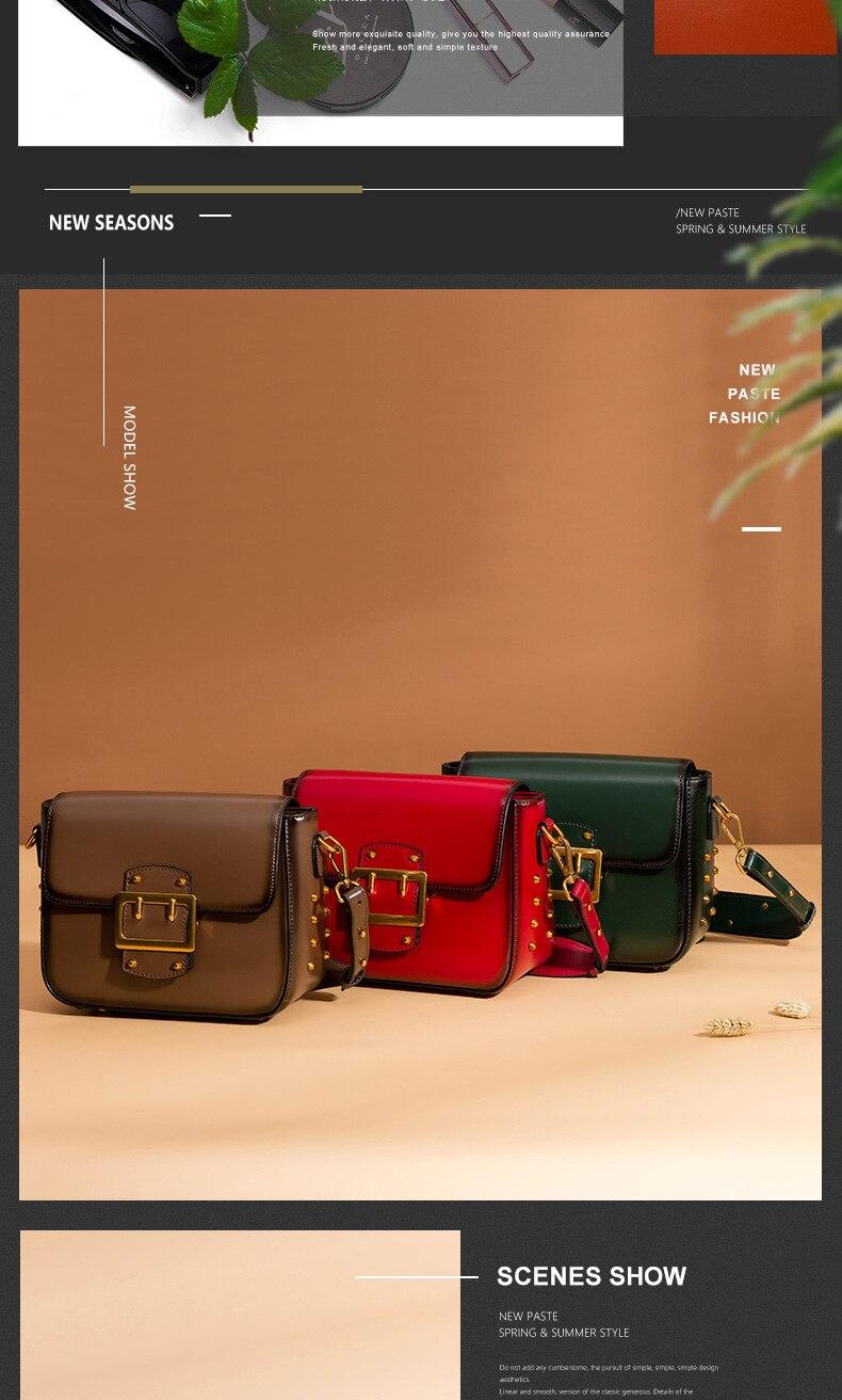 Vintage Real Leather Wide shoulder strap Handbag premium quality fashion genuine leather Shoulder Bags of Famous Brand (6)