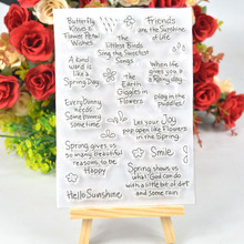Hello Sunshine Transparent Silicone Stamp English Words Clear Rubber Stamps For DIY Craft Scrapbooking Card Making
