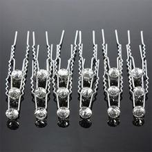 20 шт. щепка ну вечеринку свадебные кристалл горного хрусталя стразами клипы шпилька для волос стиль. Горячая
