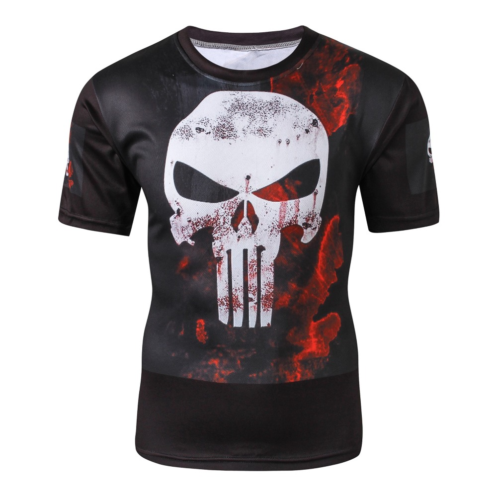 Weimostar Pro Team Men Cycling Jersey Comfortable Short Sleeve Bike T-Shirt Burnning Skull