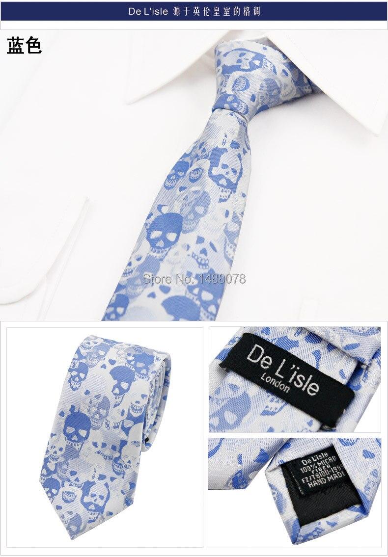 Blue Skull Tie 2M7-1++