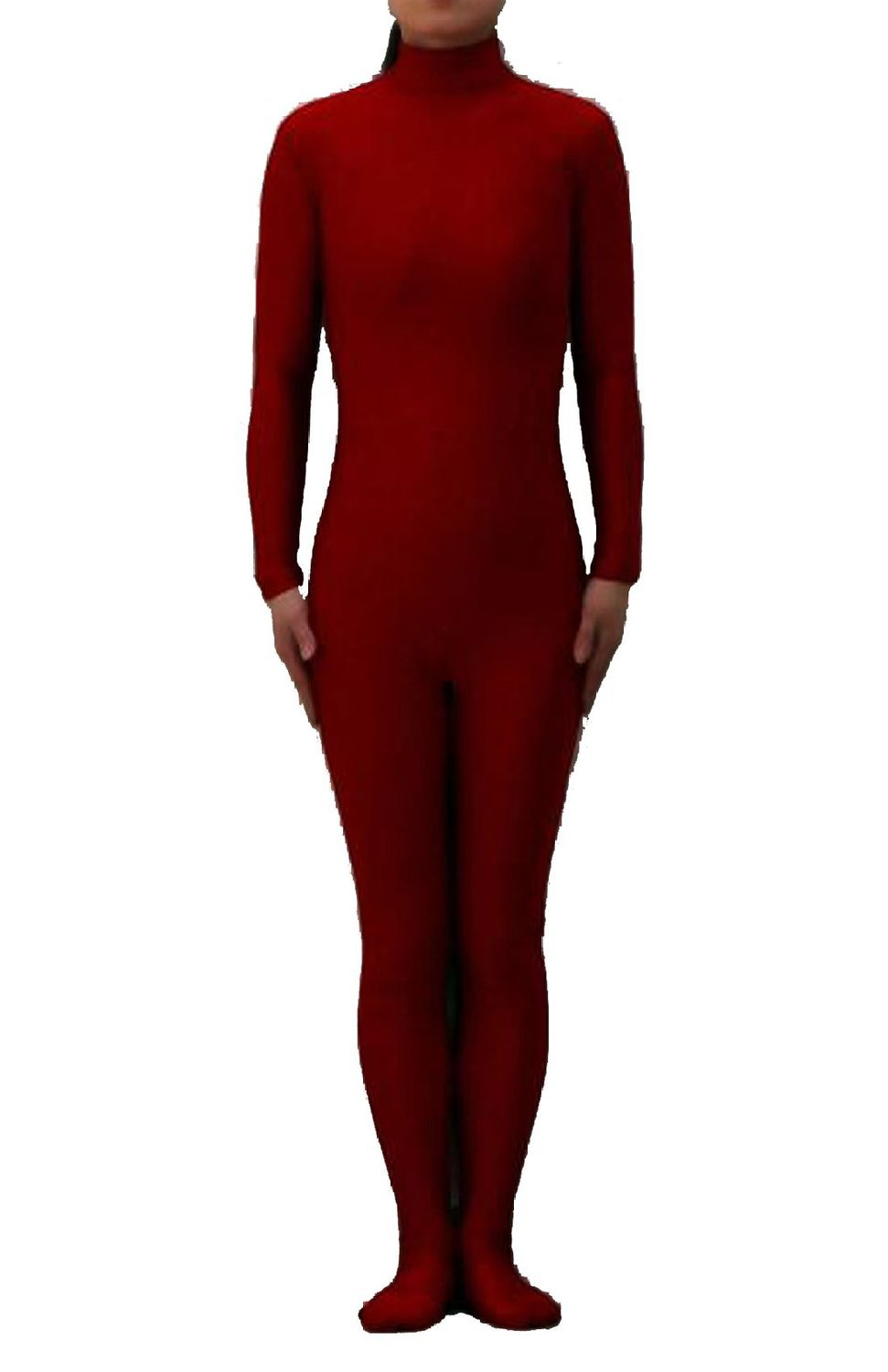 Burgundy <font><b>Sexy</b></font> Unisex <font><b>Lycra</b></font> Spandex Zentai Dancewear <font><b>Catsuit</b></font> without Hood Halloween Party Cosplay Zentai suit image