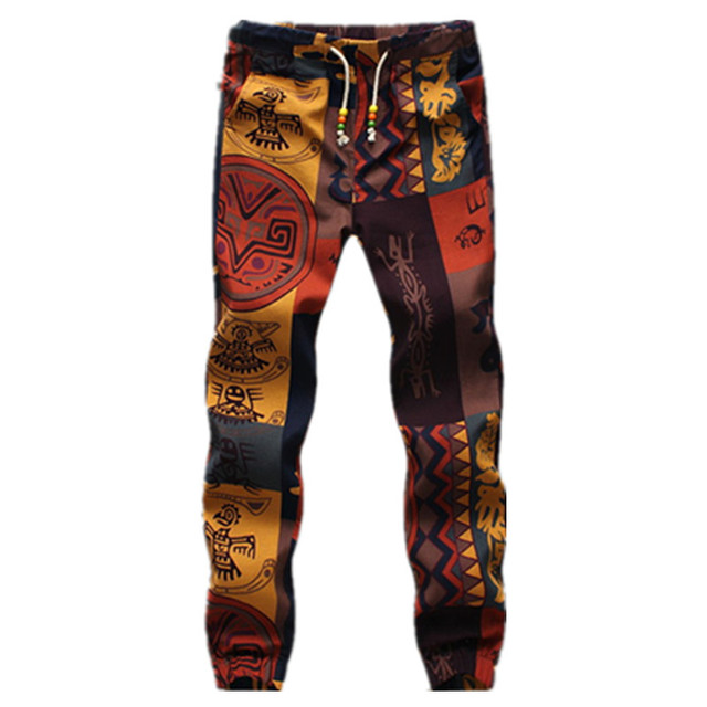 Spring Mens Casual Drawstring Floral Joggers Hawaii beach pants Gorgeous Mens Patterned Joggers