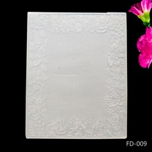 AZSG Flowers Pattern DIY Cutting Dies Scrapbooking Plastic Embossing Folder for Photo Album Paper Craft  12*15.5cm
