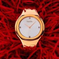 Bestdon брендовые роскошные женские часы модные часы из розового золота браслет часы Женское платье часы женские наручные часы для девочек лед