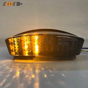 Ücretsiz Kargo Duman Led Arka Lambası W/Tek DUCATI 94-07 CANAVAR M400 M750 M900 M1000 S4R