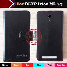 Factory Price Case For DEXP Ixion ML 4.7 Fashion Dedicated Side Slip Leather Protective Phone Cover Card Slots Wallet Bags phone case wood leather card metal glass plastic printing uv ink with factory price
