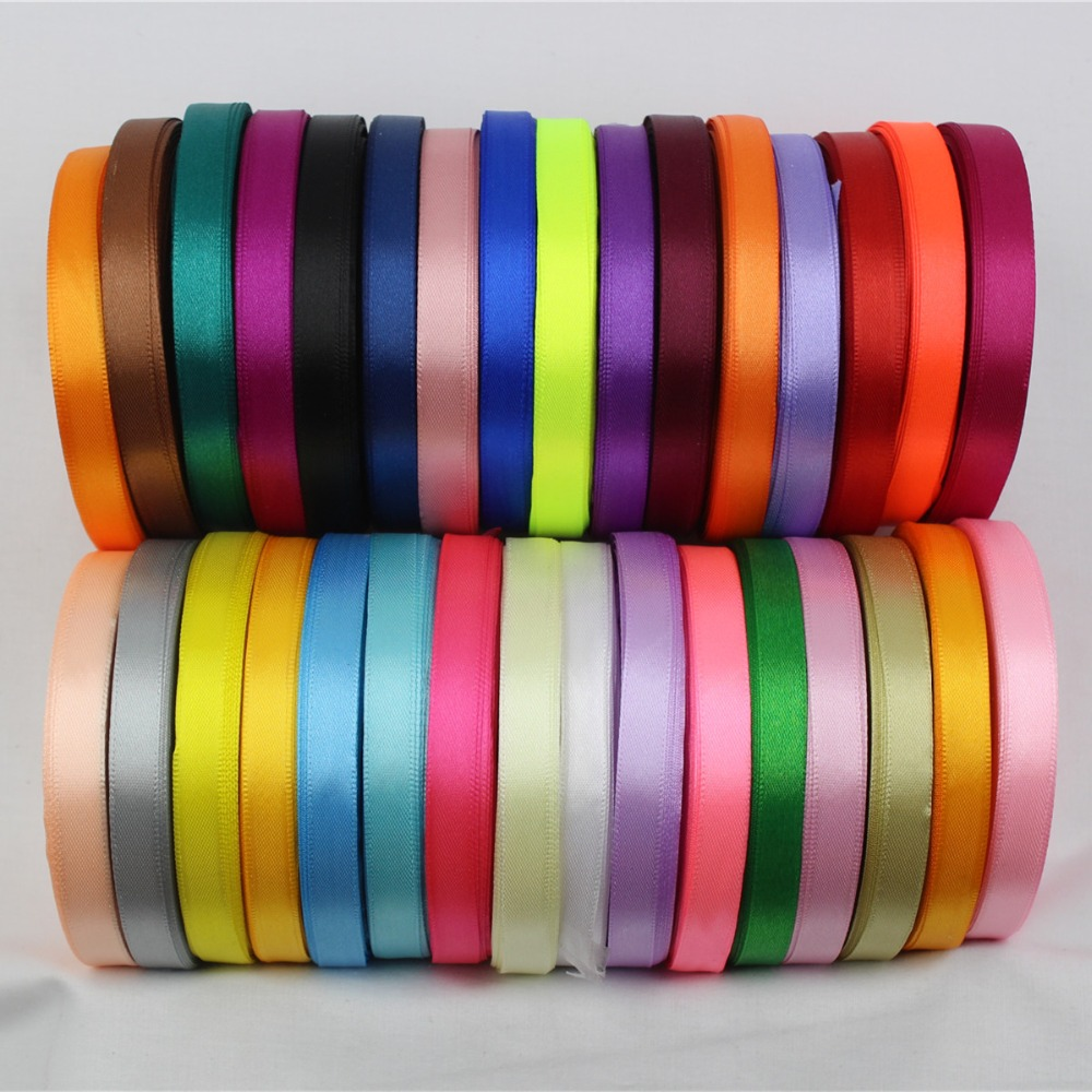 A 166910 10mm 31 color choose 25 yards silk satin ribbon wedding decorative ribbons gift wrap